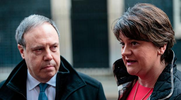 DUP leader Arlene Foster and deputy leader Nigel Dodds