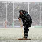 Snow joke: Storm Emma and the cold weather decimated all GAA activity last weekend