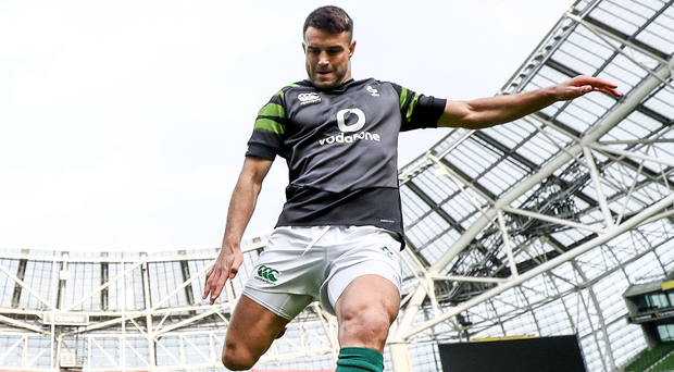 Well prepared: Conor Murray gets in some kicking practice at the Aviva Stadium