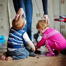 The latest figures reveal that some here are spending almost 40% of their household income on childcare (stock photo)