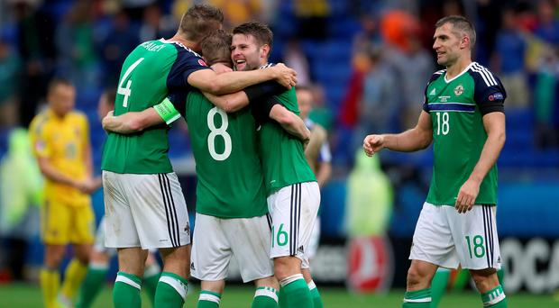 Gareth McAuley (left) and Aaron Hughes (right) will continue their international careers.