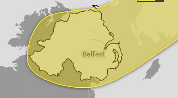 A yellow ice warning has been issued for Northern Ireland/ Credit: Met Office