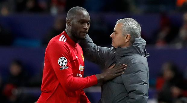 Romelu Lukaku (left) and Jose Mourinho