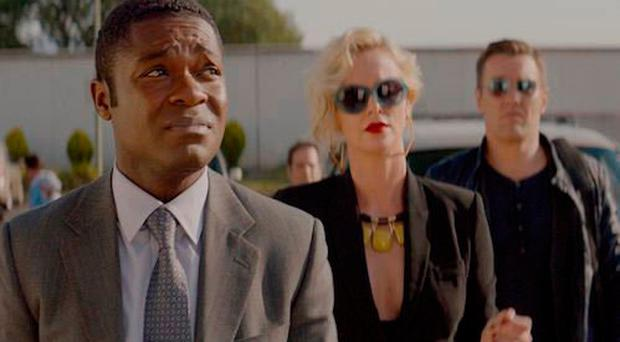 Comic capers: David Oyelowo, Charlize Theron and Joel Edgerton in Gringo