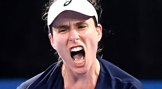 Girl power: Johanna Konta demonstrates her fierce will to win