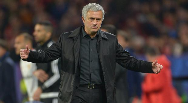 Firing back: Manchester United boss Jose Mourinho slammed critics of his side's style of play yesterday