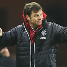 Pointing the way: Rangers manager Graeme Murty