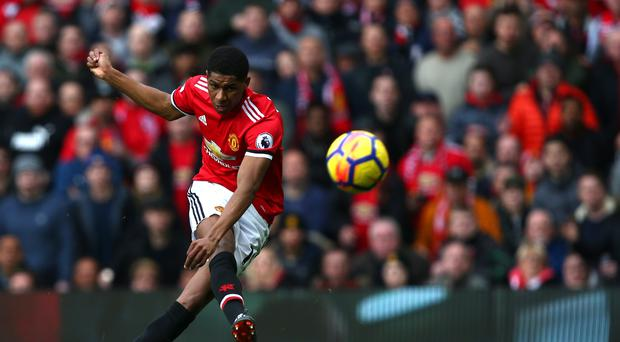 Marcus Rashford scores his first goal