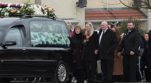 The funeral of Karol Kelly who was murdered in Londonderry.