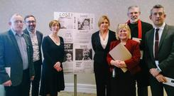 Sinn Fein TDs and charity staff at the Barnardo's Ireland event