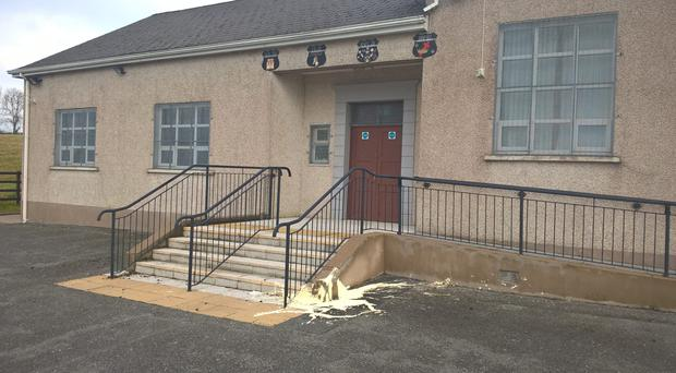 The attack on the Dungannon Orange Hall treated as a 'hate crime'.