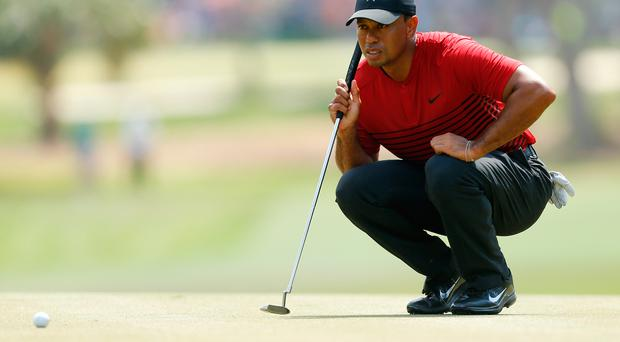 Lining it up Tiger Woods is favourite for the Arnold Palmer Invitational after an impressive display at the Valspar Championship