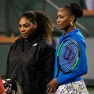Sisterly love: Serena and Venus Williams after match