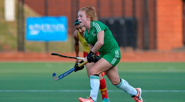 Close: Zoe Wilson had Ireland's best chance against Great Britain
