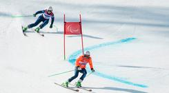 Brave effort: Kelly Gallagher came fifth in the giant slalom