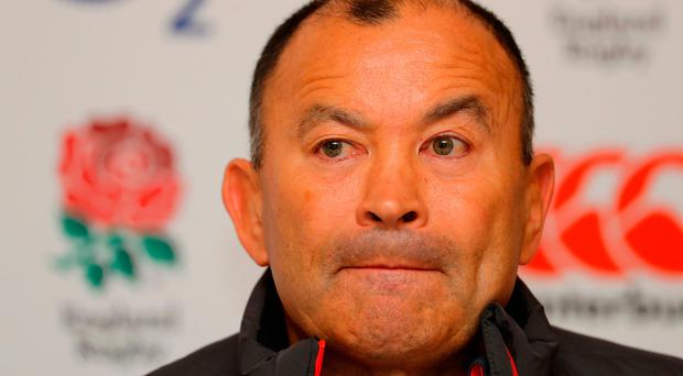 Embarrassed: Eddie Jones' gaffe has drawn unwanted attention