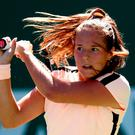 On fire: Daria Kasatkina en route to her crushing victory
