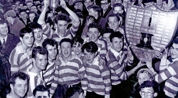 History makers: Annadale celebrate their shock Schools' Cup win in 1958