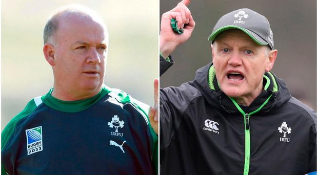 Declan Kidney (left) and Joe Schmidt (right).