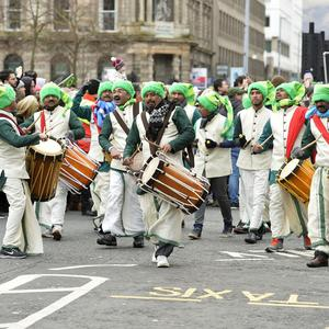 17/3/2018 Annual St Patricks day parade which made its way through the city centre from Writers square and back and followed by a concert at Customs house square. Mandatory Credit ©Presseye /Stephen Hamilton
