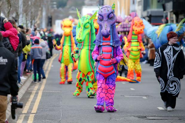 PressEye - Belfast - Northern Ireland - 17th March 2018 Pictured: Saint Patrick's Day festivities in Newry. Picture: Philip Magowan