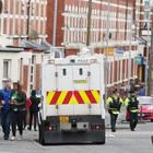 St Patrick's Day celebrations in the Holy Lands area of south Belfast. Police and local volunteers are on the ground working with the local community. Picture by Jonathan Porter/PressEye
