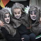Dance Fusion's Molly McCrossan, Caroline Cullen and Grace McCloskey pictured during Saturday's St. Patrick's Day Parade in Derry. (Photo: Jim McCafferty Photography)