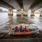 Search and Rescue teams on the river Lagan after a person has entered the water on 18th March 2018 (Photo by Kevin Scott / Belfast Telegraph)