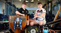 Meaning business: Campbell College captain John McKee and Armagh skipper Jack Treanor are aiming to lead their respective schools to glory at the Kingspan Stadium