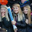 Fans at the Danske Bank Ulster School GAA finals at the Armagh Athletic Grounds.