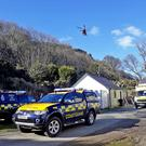 The scene at Murlough bay where a male climber in his early twenties sustained serious injuries / Credit: McAuley Multimedia