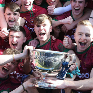 Just champion: St Ronan's celebrate winning the MacRory Cup for the first time