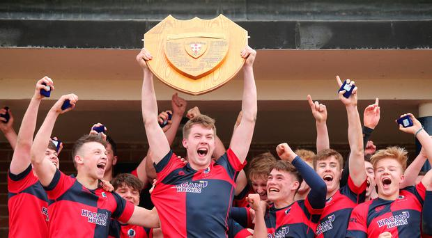 Victory roar: Ballyclare High lift the Subsidiary Shield