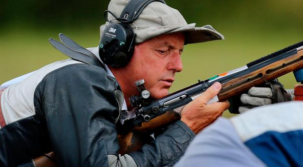 Straight shooter: David Calvert in action at the 2014 Games
