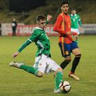 Pacemaker Belfast 22-3-18 Northern Ireland v Spain - UEFA Euro U21 Qualifier Northern Ireland's Gavin Whyte during this evenings game at Shamrock Park, Portadown. Photo by David Maginnis/Pacemaker Press