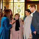 Prince Harry and Meghan Markle during a visit to the Crown Bar in Belfast City Centre. Photo credit: Gareth Fuller/PA Wire