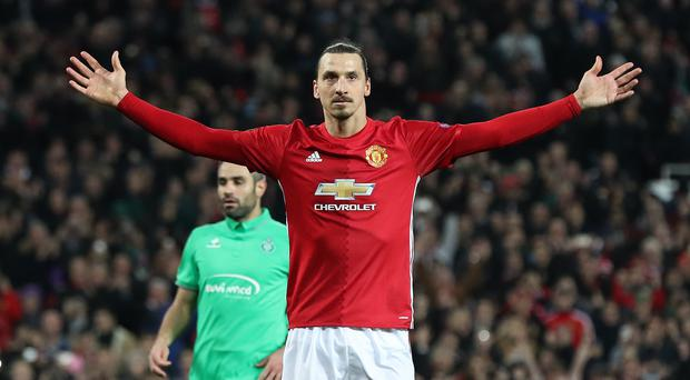 Zlatan Ibrahimovic looks set to complete his move to the Los Angeles Galaxy (Martin Rickett/PA Images)