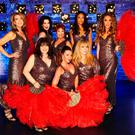Show-stoppers: (L-R, back row) Victoria Derbyshire, Sally Dexter, Ruth Madoc, Sarah-Jane Crawford and Megan McKenna. (L-R, front row) Coleen Nolan, Michelle Heaton and Helen Lederer