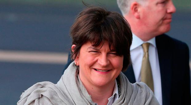 DUP leader Arlene Foster will deliver a speech today at a policy conference in Ballymena