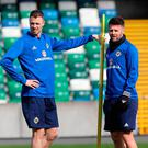 Look ahead: Oliver Norwood (right, pictured with Jonny Evans) says there are positive signs for the future of Northern Ireland