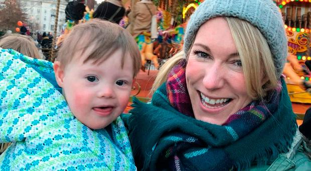 Claire Farrington with Theo