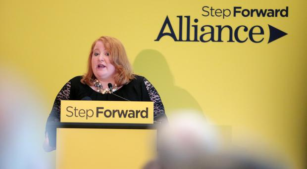Alliance Party leader Naomi Long pictured at their annual conference at the Stormont Hotel in Belfast. Photo by Kelvin Boyes / Press Eye.