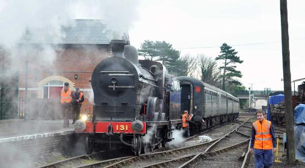 The former Great Northern Railway (Ireland) express engine No. 131 was back on the rails after a £400k restoration.