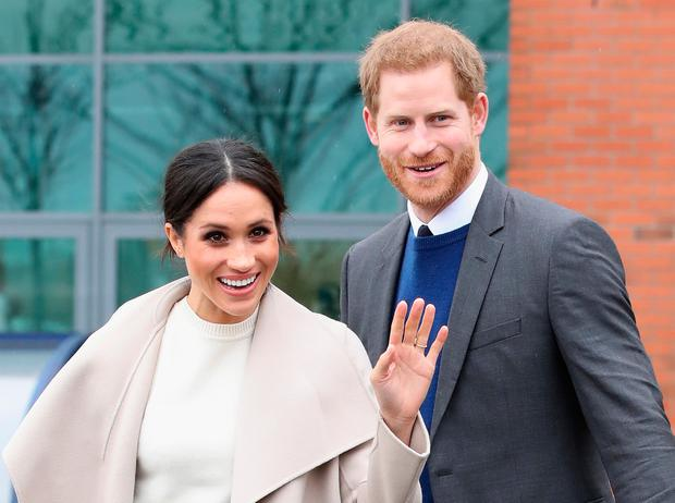 Prince Harry and Meghan Markle depart from Catalyst Inc, Northern Irelands next generation science park on March 23, 2018 in Belfast, Nothern Ireland. (Photo by Chris Jackson - Pool/Getty Images)