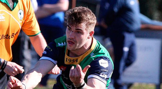 Attack mode: Ballynahinch's Aaron Cairns takes on Dolphin