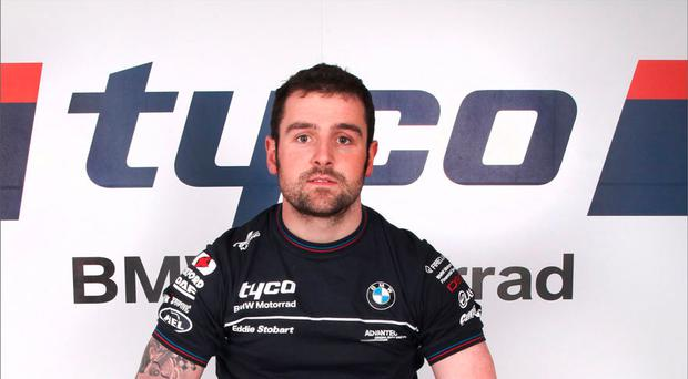 Right timing: Ballymoney man Michael Dunlop after signing the deal with Tyco BMW team yesterday