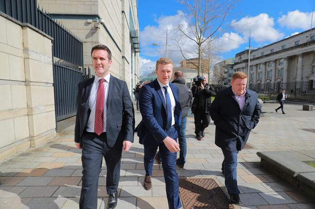Stuart Olding leaves court. Pic Kevin Scott