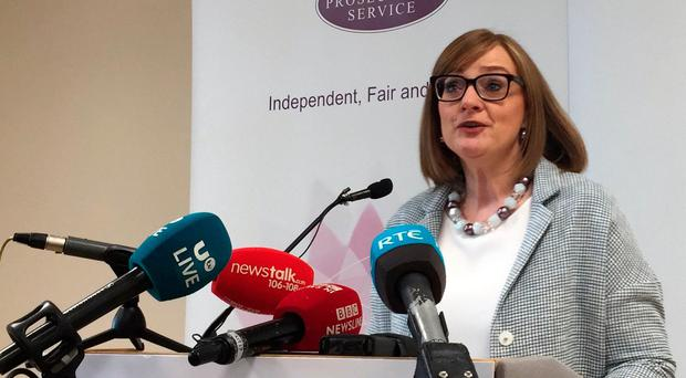 Marianne O'Kane, assistant director and head of the Public Prosecution Service's serious crime unit, which handles serious cases including all sexual offences giving a statement to media following the acquittal on rape charges of Ireland rugby internationals Paddy Jackson and Stuart Olding. Pic: Aine Fox/PA Wire
