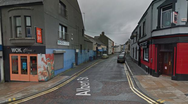 Police have appealed for information following an attempted robbery in Albert Street, Bangor. credit: Google Images.