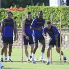 The AS Roma team, which already uses STATSport's APEX devices, pictured in training using the technology